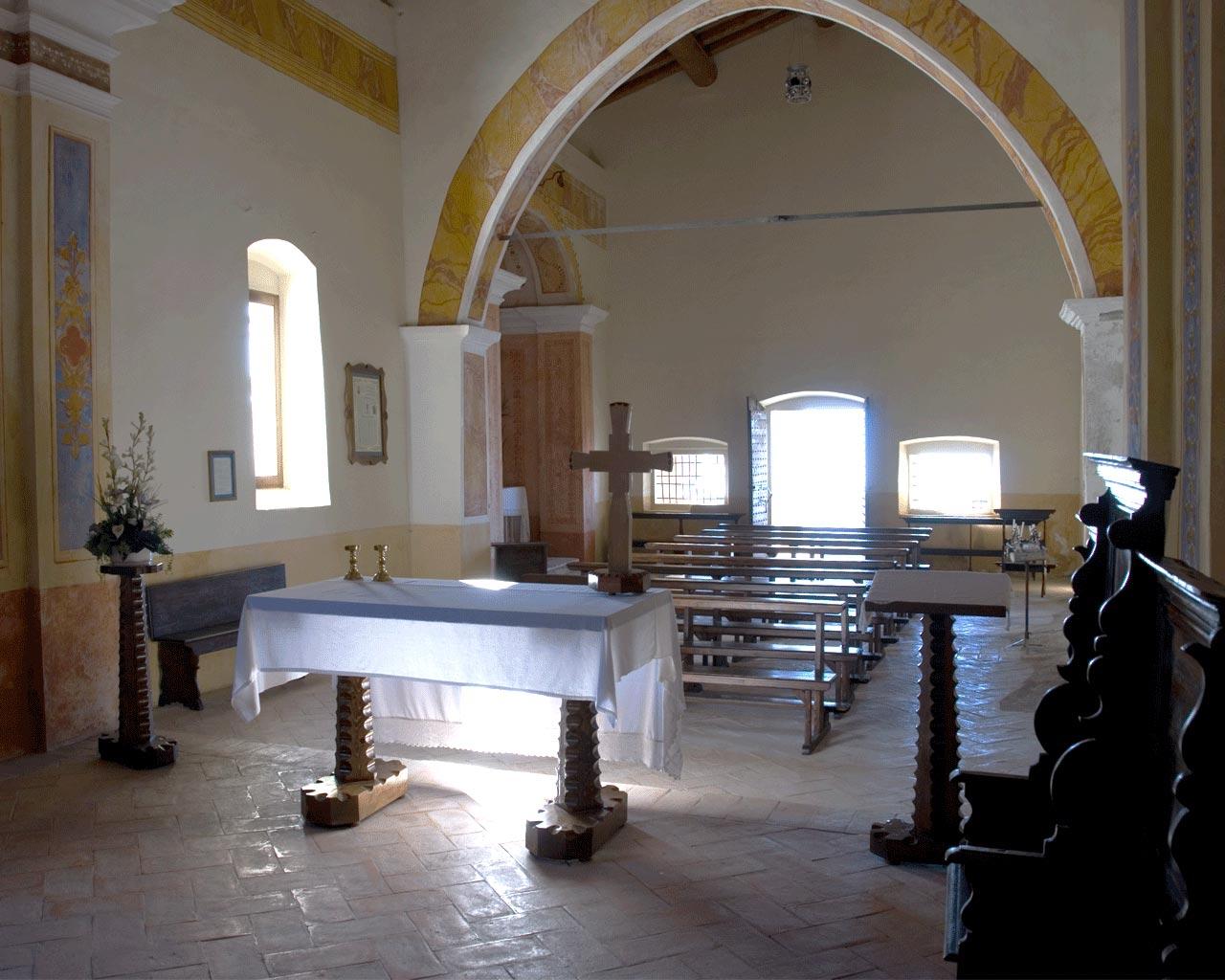 Vista dall'altare del santuario di Sant'Emiliano