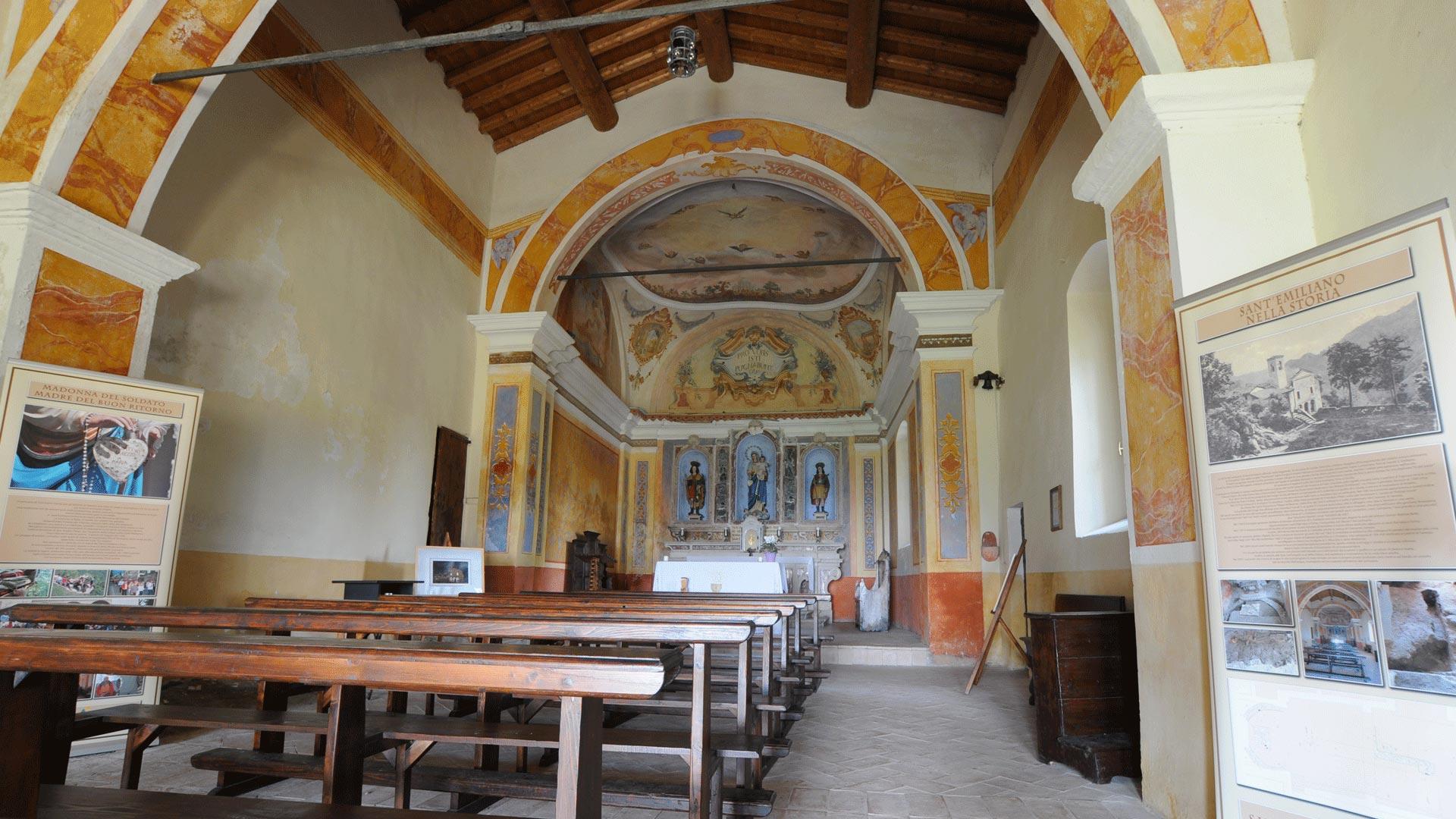 Interno del Chiesa risalente al XII secolo